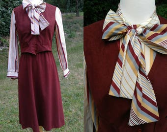 1970s Secretary dress with vest