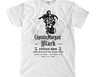 Captain Morgan - White Shirt - Ships Fast! High Quality!