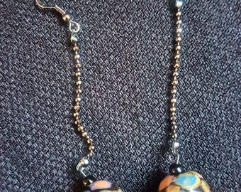 Colorful Acrylic African bead earrings