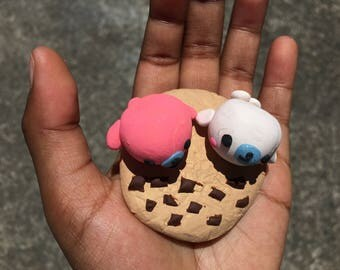 Kawaii mamegoma chocolate chip cookie beach