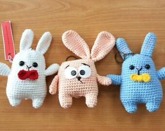 Set of 3-Bunny Key Chain