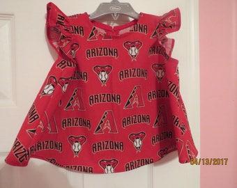 Little girls MLB Arizona Diamondback shirt (size 2)