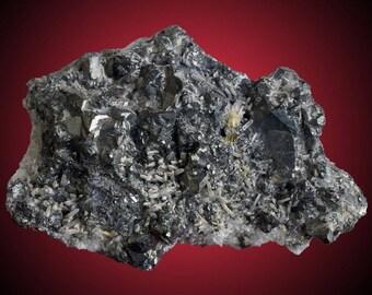 Tetrahedrite with Bornite, Quartz, etc.; Sweet Home Mine, Alma, Park Co., Colorado, USA  --- minerals and crystals