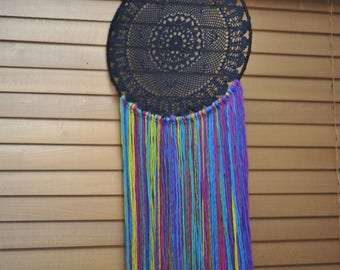 Black and rainbow Dream catcher