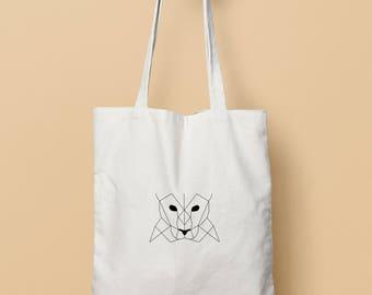 Geometric panther bag (duplex)