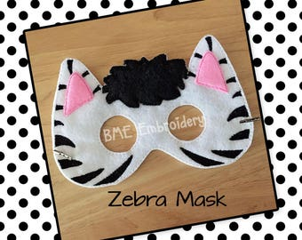 Zebra Mask-Dress Up-Halloween Mask/Costume-Pretend Play-Imaginary Play- Birthday Party Favor-Theme Parties-Zoo Animal Mask-Photo Prop