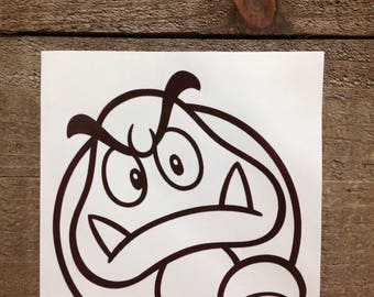 Super Mario Brothers Goomba Vinyl Decal