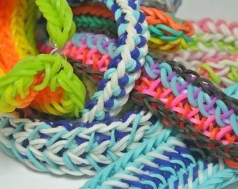 Rainbow Loom Custom Bracelet~ Any Color Any Design