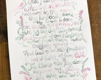 Lord's Prayer [watercolor]