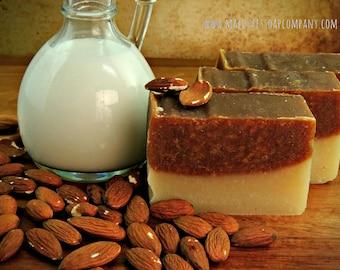 Sweet Almond Bar Natural Handmade Vegan Cold Process Soap