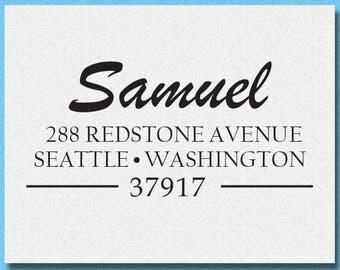 Custom Rubber Stamp, Personalized Return Address Stamp with proof, Personalized Address Stamp, Modern Address Stamp,