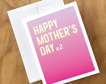 Mother's Day Card for TWO Moms | Card for Lesbian Moms