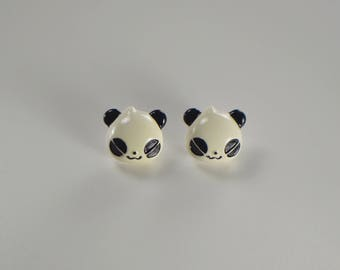 Cute children's panda earrings