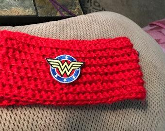 Wonder Woman inspired ear warmer