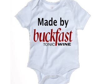 Made by Buckfast funny baby grow - baby clothes
