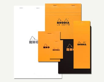 Rhodia Notebook - blank notebook, ruled notebook, grid notebook, notebook set, portfolio notebook, A4, A5, A7, memo, notepad, pocket, lined