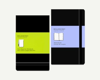 Moleskine Notebook - Moleskine sketchbook, Moleskine reporter notebook, Moleskine journal, Moleskine pocket, Moleskine diary, hardcover, A6