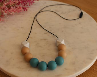 HARPER - Teal Blue Silicone Necklace