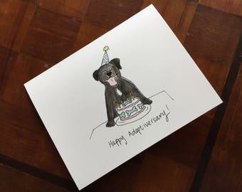 Adoptiversary Dog Notecards (Pack of 5)