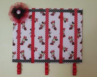 Minnie Mouse hair bow holder