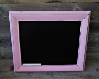 Upcycled Chalkboard  Frame / Photo Prop /Farmhouse Decor/ Cottage Decor /Rustic/ Pink Frame /Memo Board /Menu Board/Paris Theme