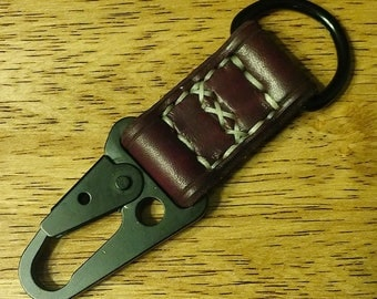 Handstitched Leather Keyring