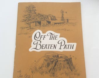 Off The Beaten Path with Jan Bells Sketchbook, Vintage 1982 How TO Art Paperback Book