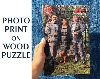 5th Anniversary Gift, Anniversary Photo on Wood, Wedding Picture on Wood PUZZLE, Wood Anniversary Gift, 5 Year Anniversary, Anniversary Gift