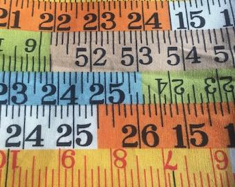 Tape Measure Print Cotton