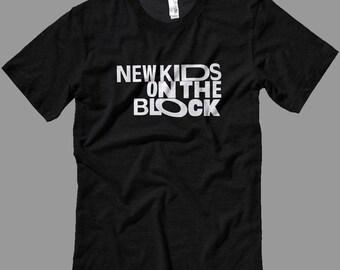 New Kids on the Block white logo T Shirt-Tanks-Sweatshirts-Hoodies-Youth-Womens-Mens- sizes up to 5XL