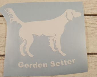 Gordon Setter Vinyl Decal, car window decal