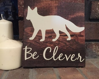 Woodland Motivational Signs, fox