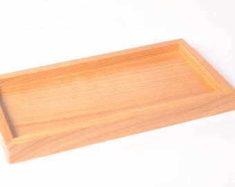 Natural tray for 5-soap dish