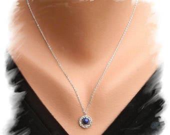Lapis Lazuli necklace, 925 Silver