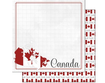 """Canada Set of 8 Custom Selected 12"""" x 12"""" Scrapbook Papers Travel & Vacation Themed Papers - Our Favorites"""