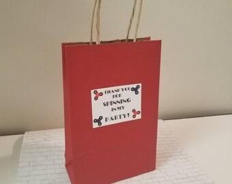 Fidget Spinner Goodie Bag Stickers  Birthday Party  Goodie Favor Bags Happy Birthday Stickers