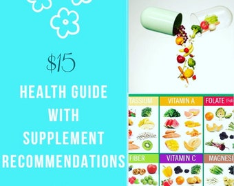 Health Guide w/Supplement Recommendations