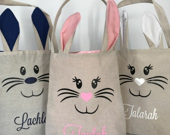 Easter Bunny Burlap Totes