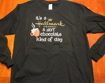 It's a Hallmark channel and hot chocolate kind of day - black long sleeve
