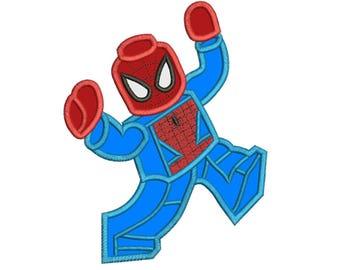 Spider Boy Applique Design 3 sizes for Instant Download