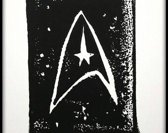 Star Trek Art: Go Beyond - Block Print