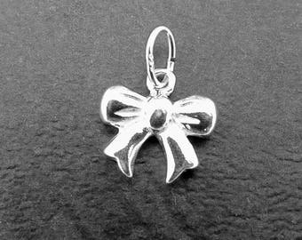 Bow Charm, Sterling Silver Bow Charm, Sterling Silver Charms, Trendy Charm, Sterling Silver Jewellery Supplies.
