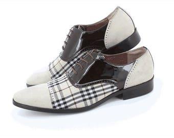 Oxford shoes, Handmade Men Shoes, mens shoes, dress shoes, wedding shoes, casual shoes for men, beige, black, leather shoes