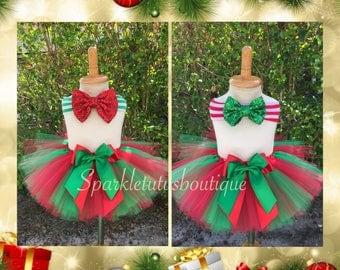 Christmas Red and Green Tutu, kids tutu, baby tutu, holidays tutu
