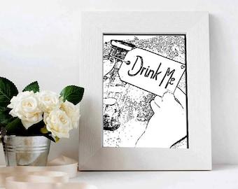 Drink Me Print