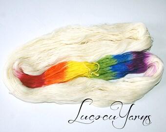 """Hand-dyed sock yarn 4 x 100 g """"Unicorn fart"""""""