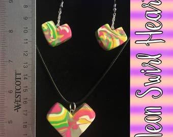 Neon Swirl Heart
