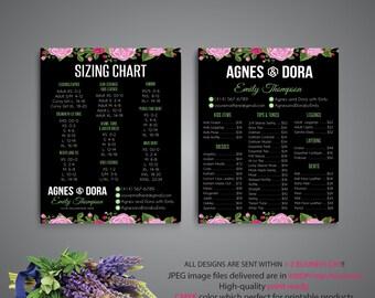 BOTH POSTER Agnes and Dora Price list, Agnes Dora Size Chart, Agnes Dora Marketing, Digital Agnes and Dora, Printable File AG86