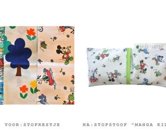 Cherry stone pillow for children with washable cover