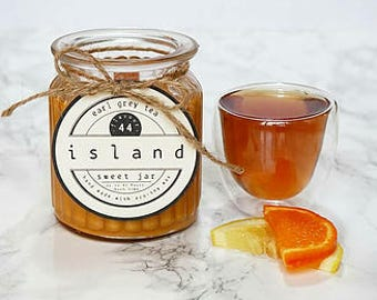 earl grey tea scented soy candle